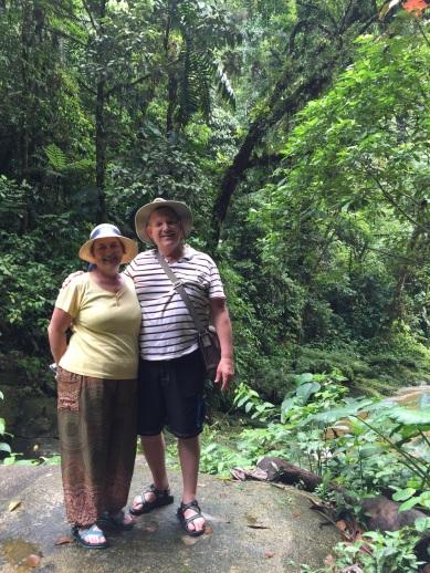 Mom and Dad walking through Laguna Azul