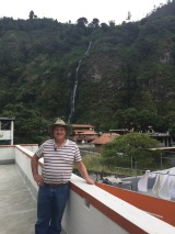 Dad on the hostel's rooftop