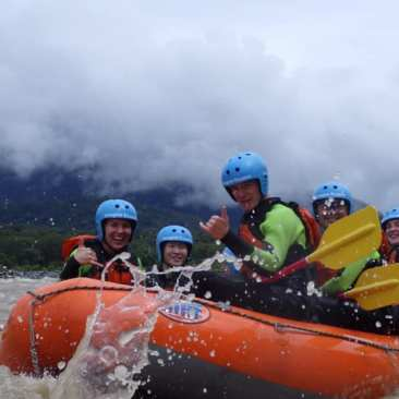 White water rafting at the edge of the Amazon